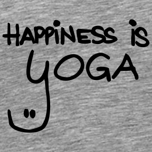 happiness is yoga - Männer Premium T-Shirt