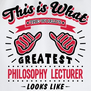 philosophy lecturer worlds greatest look - Drawstring Bag