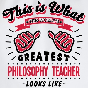 philosophy teacher worlds greatest looks - Drawstring Bag