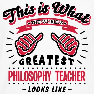 philosophy teacher worlds greatest looks - Men's Premium Longsleeve Shirt