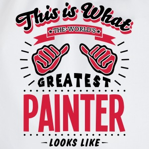 painter worlds greatest looks like - Drawstring Bag