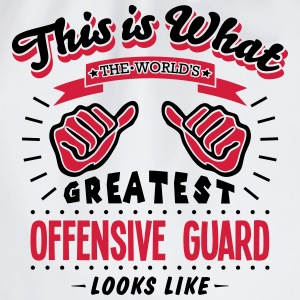 offensive guard worlds greatest looks li - Drawstring Bag