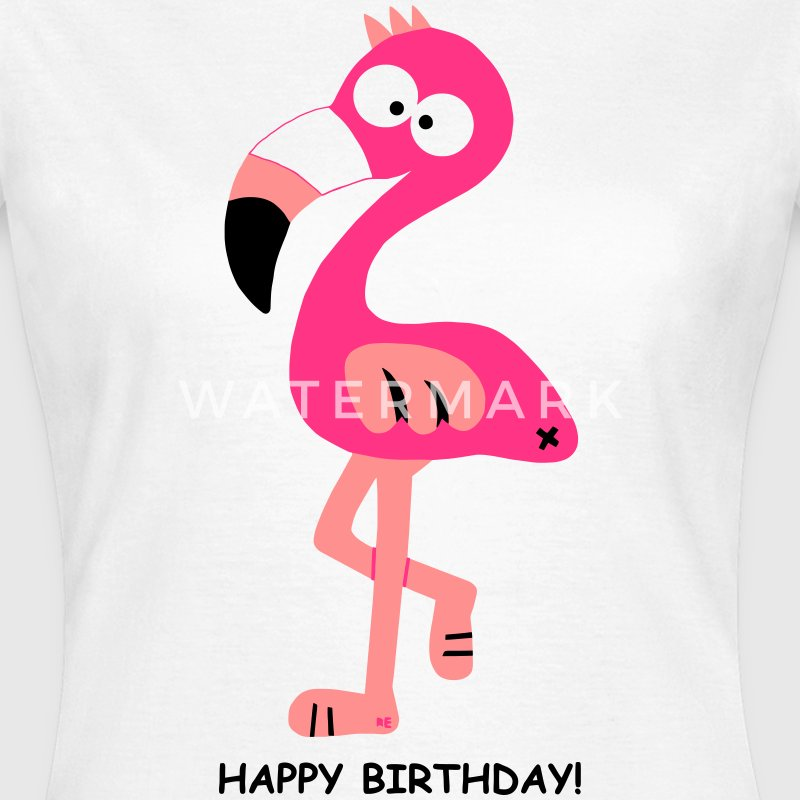 Flamingo Shirt Happy Birthday - Frauen T-Shirt