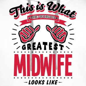 midwife worlds greatest looks like - Men's Premium Hoodie