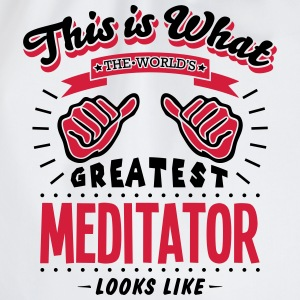 meditator worlds greatest looks like - Drawstring Bag