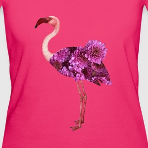 Flower Flamingo Baby Long Sleeve Shirts - Women's Organic T-shirt