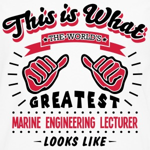 marine engineering lecturer worlds great - Men's Premium Longsleeve Shirt