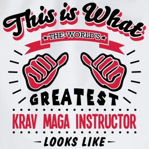 krav maga instructor worlds greatest loo - Drawstring Bag