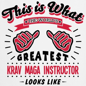 krav maga instructor worlds greatest loo - Cooking Apron