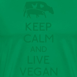 Keep Calm live vegan  Aprons - Men's Premium T-Shirt
