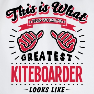 kiteboarder worlds greatest looks like - Drawstring Bag