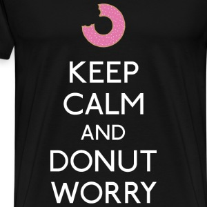 Keep Calm Donut worry Mugs & Drinkware - Men's Premium T-Shirt