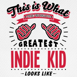 indie kid worlds greatest looks like - Baseball Cap