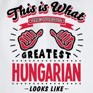 hungarian  worlds greatest looks like - Drawstring Bag