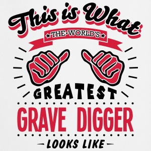 grave digger worlds greatest looks like - Cooking Apron