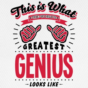 genius worlds greatest looks like - Baseball Cap