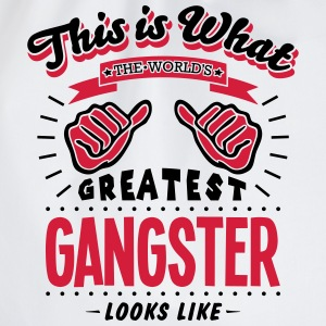 gangster worlds greatest looks like - Drawstring Bag