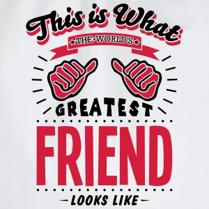 friend worlds greatest looks like - Drawstring Bag