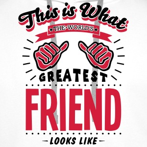 friend worlds greatest looks like - Men's Premium Hoodie