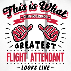 flight attendant worlds greatest looks l - Men's Premium Hoodie