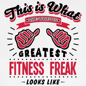 fitness freak worlds greatest looks like - Baseball Cap
