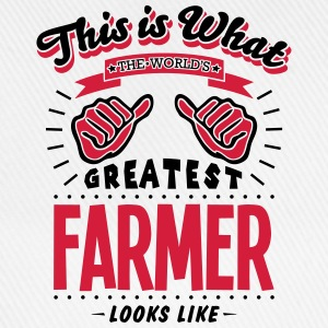 farmer worlds greatest looks like - Baseball Cap