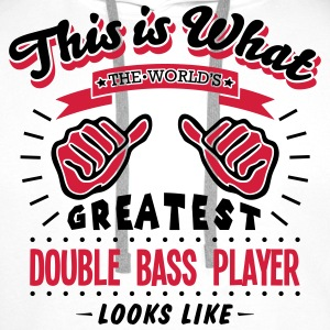 double bass player worlds greatest looks - Men's Premium Hoodie