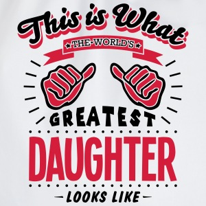daughter worlds greatest looks like - Drawstring Bag