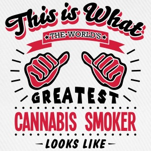 cannabis smoker worlds greatest looks li - Baseball Cap