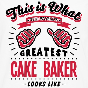 cake baker worlds greatest looks like - Men's Premium Longsleeve Shirt