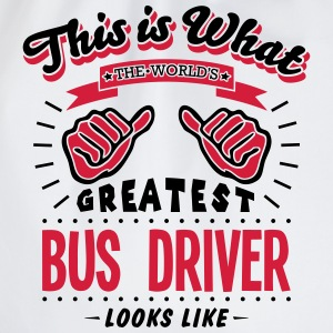 bus driver worlds greatest looks like - Drawstring Bag