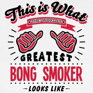 bong smoker worlds greatest looks like - Baseball Cap