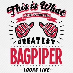 bagpiper worlds greatest looks like - Baseball Cap