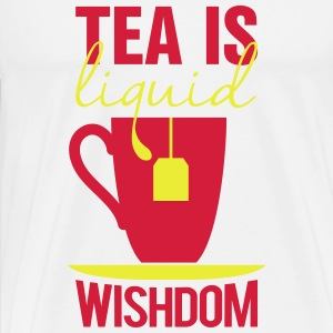 tea is liquid wisdom Bodys Bébés - T-shirt Premium Homme