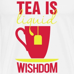 tea is liquid wisdom Baby Bodysuits - Men's Premium T-Shirt