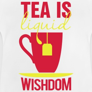 tea is liquid wisdom Tee shirts - T-shirt Bébé