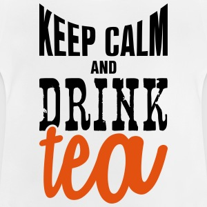keep calm and drink tea Manches longues - T-shirt Bébé