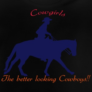 Cowgirls The better looking Cowboys Langærmede shirts - Baby T-shirt