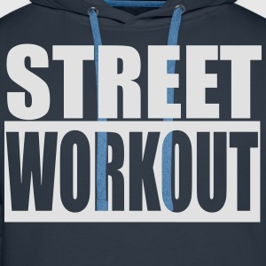 Street Workout - Sweat-shirt à capuche Premium pour hommes