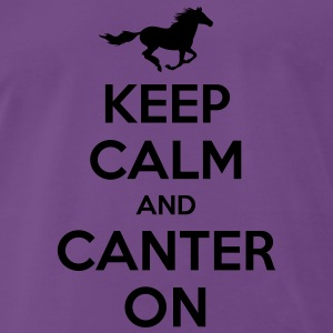Keep Calm and Canter on - Horse Design Hoodies & Sweatshirts - Men's Premium T-Shirt