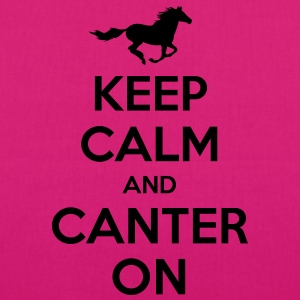 Keep Calm and Canter on - Horse Design Hoodies & Sweatshirts - EarthPositive Tote Bag