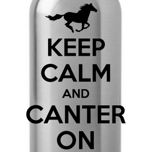Keep Calm and Canter on - Horse Design Hoodies & Sweatshirts - Water Bottle