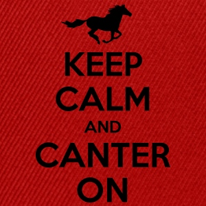 Keep Calm and Canter on - Horse Design Hoodies & Sweatshirts - Snapback Cap