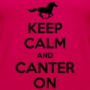 Keep Calm and Canter on - Horse Design Hoodies & Sweatshirts - Women's Premium Tank Top