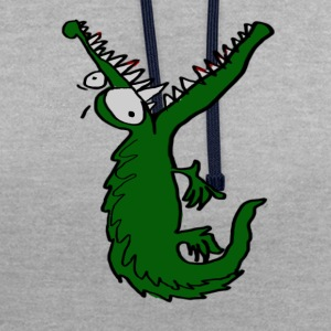 Crocodile affamé Tee shirts - Sweat-shirt contraste