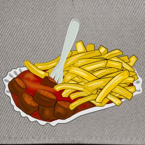 currywurst pommes T-Shirts - Snapback Cap