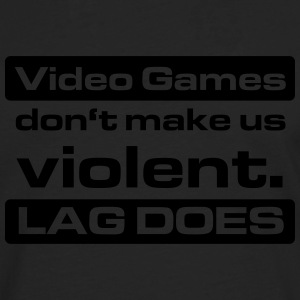 Video Game Lag T-Shirts - Männer Premium Langarmshirt