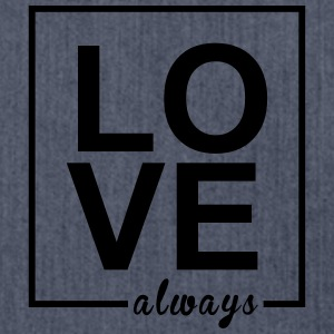 Love Always - Schultertasche aus Recycling-Material