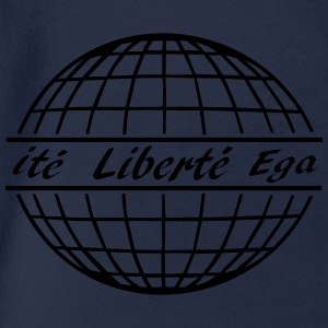 shirt liberté, free world - Baby Bio-Kurzarm-Body