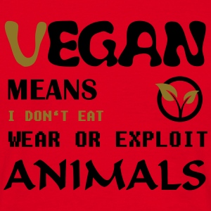 Vegan means i don't eat wear ore exploit Animals Tassen & Zubehör - Männer T-Shirt